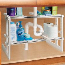 Under Sink Shelves Storage Shelf Organizer Bathroon Adjustable Organization NEW