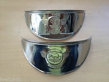 HEADLIGHT PEAKS STAINLESS STEEL- MORRIS MINOR (EMBOSSED) CLASSIC CAR. BRAND NEW