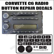 05 - 13 C6 CORVETTE RADIO STEREO CONTROL BUTTON REPAIR DECAL STICKER