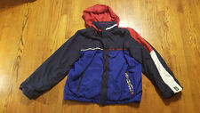 Tommy Hilfiger Jacket Coat Reversible Stow Hood XL Navy SPELL OUT Coldstop VTG