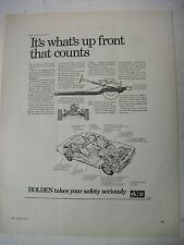 1972 HOLDEN HQ IT'S WHAT'S UP FRONT THAT COUNTS FULLPAGE MAGAZINE ADVERTISEMENT