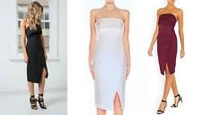 New CAMEO COLLECTIVE *Ivory White* Strapless Crossing Borders Cocktail Dress S/8