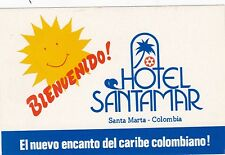 Colombia Santa Marta Hotel Santamar Vintage Luggage Label sk1833