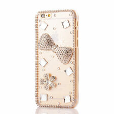 Luxury 3D Clear Bling Diamond Rhinestone Crystal Hard Case Cover For Cell Phones