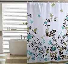 Floral Bird Modern Nature Classic Style Ring Hook Waterproof Shower Curtains