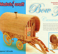 BOW TOP CARAVAN MATCHSTICK MODEL CRAFT KIT, BRAND NEW