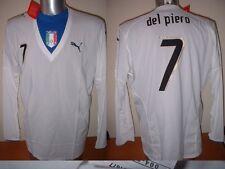 ITALY ITALIA DEL PIERO NUOVA CON ETICHETTA Camicia Puma XL JUVENTUS Player SPEC Jersey Calcio L / S