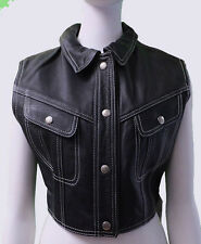 New with Tags NWT 1995 BOY LONDON LEATHER VEST Super VINTAGE Med