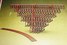 N scale Con-Cor Heljan Wood Trestle #666 Kit ~ Straight or Curved Option