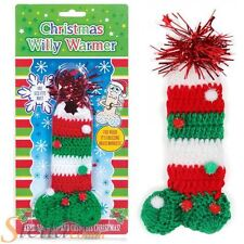 Christmas Willy Warmer With Tinsel Novelty Knitted Adult Secret Santa Gift