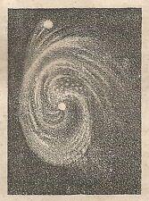 A5631 Nebulosa del cane da caccia - Xilografia - Stampa Antica 1864 - Engraving