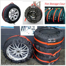 4X Wheel Storage Carry Tyre Bag Protection Cover Storage Space Saver Black/Red
