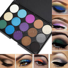 Palette de 15 Couleurs Froid Fard Ombre à Paupieres Maquillage Eyeshadow Neuf
