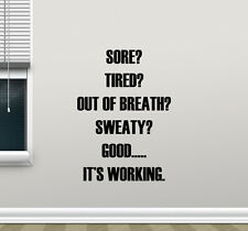 Gym Wall Decal Motivational Fitness Art Quote Vinyl Sticker Workout Decor 119nnn