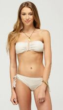 NWT Roxy Melody U Bandeau Top & Bikini Bottom 2-Piece Bathing Suit Size Small