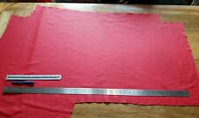 RED ( BRIGHT) LEATHER APPROX 120CM  X 55CM PIECE/REMNANTS/OFFCUT/REPAIR PATCH
