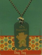 "Care Bears CHEER Bear 28"" DOG Tag Necklace ""100% HUGGABLE!"""