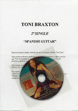"TONI BRAXTON ""SPANISH GUITAR"" RARE SPANISH PROMO CD SINGLE+PRESS INFO SHEET"