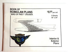 Star Trek Classic Romulan Bird of Prey Blueprint Set-5 Sheets w FREE Patch