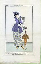 COSTUMES PARISIENS 1912 - SIGNED  GERMAINE LEMAIRE 1912 - plate 11