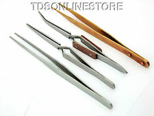 "4 Piece 6 1/2""  Soldering Tweezers In Carrying Pouch"