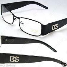 New Black DG Clear Lens Frames Glasses Rectangular Fashion Mens Womens Designer