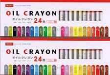 OIL CRAYON 24 colors! 2 SET!! From JAPAN Free Shipping