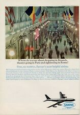 """1964 Sabena Belgian Airlines """"Shopping in Brussels"""" PRINT AD"""