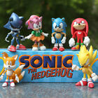 6 x SONIC THE HEDGEHOG ACTION FIGURE DISPLAY FIGURINES SET CAKE TOPPER DECOR TOY