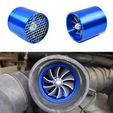 Blue Air Intake Turbonator Single Fan Turbine Turbo Supercharger Gas Fuel Saver