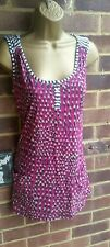 WHITE STUFF SZ 12 CRAYON PINK BLUE MULTI PRINT  RELAXED TUNIC VEST WITH POCKETS