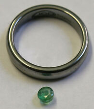NATURAL EMERALD GEMSTONE 4MM FACETED ROUND LOOSE HAND CUT 0.3CT GEM EM36C
