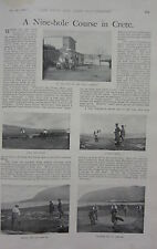 1898 BOER WAR ERA PRINT ~ NINE-HOLE COURSE IN CRETE SUDA BAY GOLF