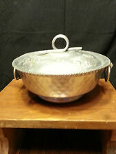 Vintage Hammered Aluminum Serving Dish see pics for size