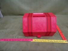 Vintage Red Roly kit Roll-Up Storage Box S-11 1970s Crafts Fishing Sewing RV !!