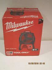 Milwaukee 0886-20- M18 Portable Jobsite Fan W/AC ADAPTOR FREE SHIPPING NISP 2016