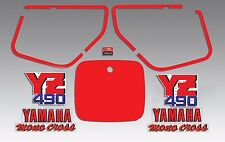YAMAHA 1987 YZ490 YZ 490 DECAL GRAPHIC KIT LIKE NOS WICKED TOUGH VERSION