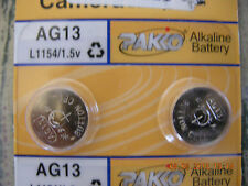 PAKO BATTERIES AG13 L1154 ALKALINE BATTERY  1.5V many uses very compatible NEW