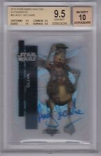 STAR WARS 2015 TOPPS HIGH TEK 90 ANDREW SECOMBE AS WATTO AUTOGRAPH BGS 9.5 GEM