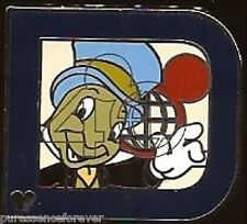 Disney Pin: WDW Hidden Mickey 2011 - Classic 'D' Part 2: Jiminy Cricket