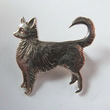 Fabulous Vintage Silver Dog Brooch Marked 925  - Fluffy Chihuahua?