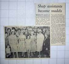 1960 Shop Assistants At Morley's Of Brixton Become Models