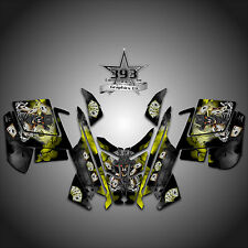 2010 - 2015 POLARIS PRO RMK - RUSH Decal Sticker Wrap Graphics Outlaw Yellow