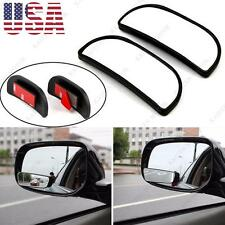 2xCar SUV Adjustment Stick-on Convex Wide Angel Blind Sport Side Rearview Mirror