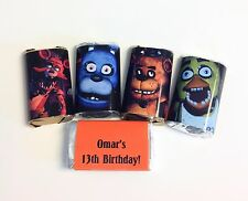 50 FNAF MINI CANDY BAR WRAPPERS PARTY FAVORS