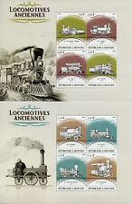 Gabon 2016 MNH Old Locomotives Steam Trains 4v M/S I & II Railways Stamps