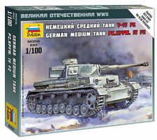 Zvezda 1/100 German Panzer IV F2 Medium Tank Z6251