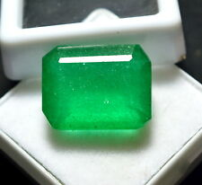 Certified 13.70 Ct Natural Wonderful Gems Colombia Emerald Cut For_Ring (NW-F)