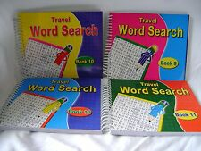 NEW 4 TRAVEL WORD SEARCH BOOKS 680 PUZZLES TOTAL! WORDSEARCHES No. 9 - 12