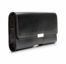AT&T Premium Leather Phone Case with Belt Clip [Black, 334516A, Pouch/Sleeve]